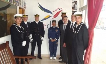 Visita de una delegación de la  Prefectura Naval Argentina