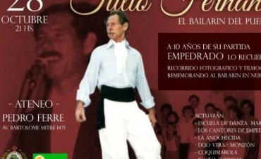 """Homenaje a Tulio Fernández """"El bailarín del pueblo"""""""