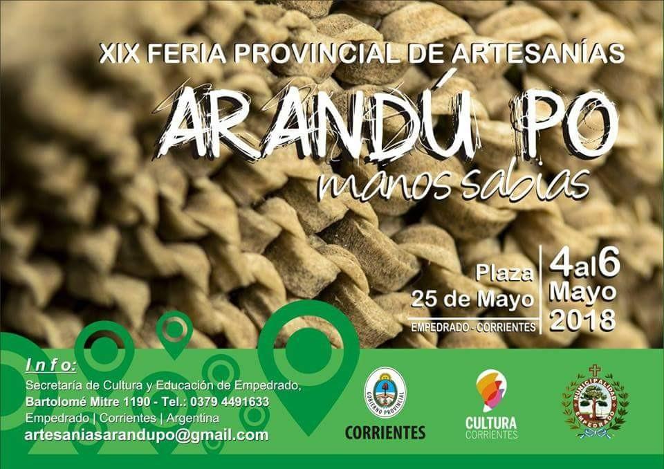 """Se suspendió  la Feria Provincial de Artesanías """"Arandú Po"""