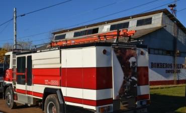 Bomberos Voluntarios de Empedrado en alerta roja