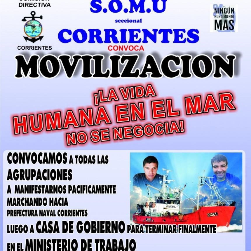 Marcha de trabajadores marítimos