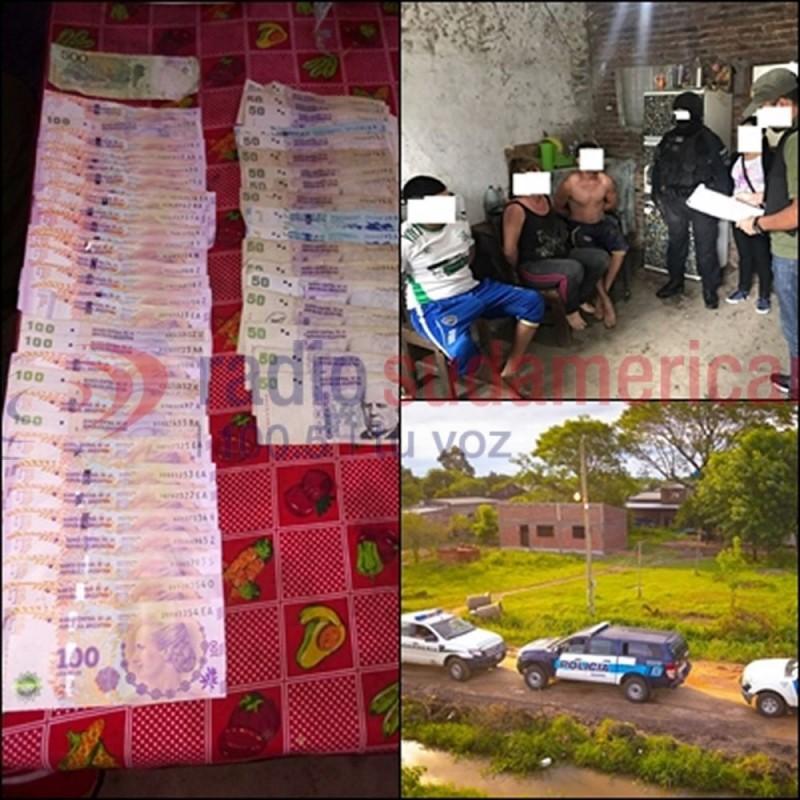 Detuvieron a seis personas tras desbaratar kioscos de droga