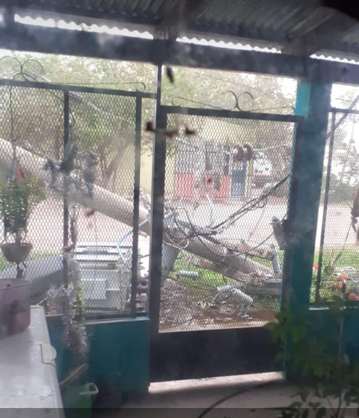 Destrozos dejó la tormenta en Empedrado